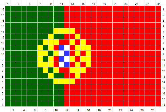 Solmuteoriaa Crochet Patterns Flag Of Portugal