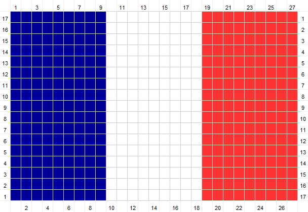 Crochet Pattern for Flag of France