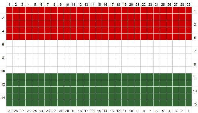 Flag of Hungary Crochet Pattern