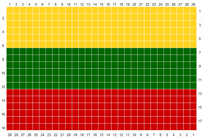Crochet Pattern for Flag of Lithuania